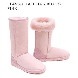 Classic tall pink Uggs